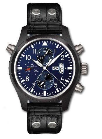 IWC IW3799-04 : Pilot's Watch Double Chronograph Top Gun Carlson