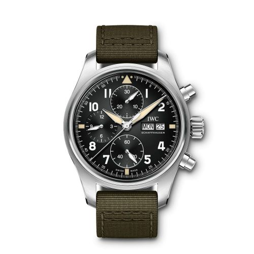 IWC IW3879-01 : Pilot's Watch Chronograph Spitfire Stainless Steel / Black / Textile