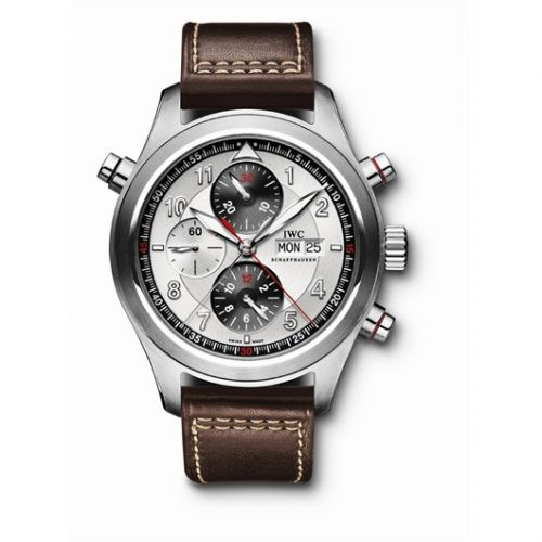 IWC IW3718-02 : Pilot's Watch Spitfire Double Chronograph Stainless Steel / Panda / Strap