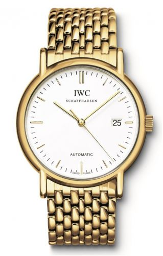IWC IW3533-08 : Portofino Automatic / Yellow Gold / White / Bracelet