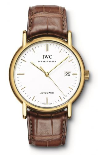 IWC IW3533-17 : Portofino Automatic / Yellow Gold / White / Strap
