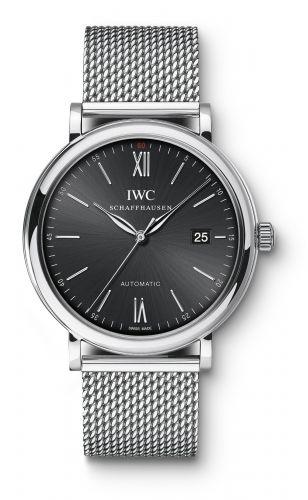 IWC IW3565-06 : Portofino Automatic Stainless Steel / Black / Milanese
