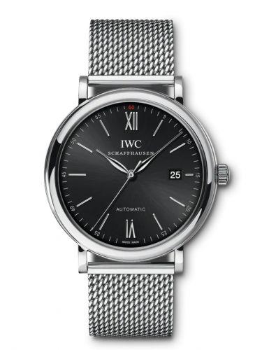IWC IW3565-08 : Portofino Automatic Stainless Steel / Black / Short Milanese