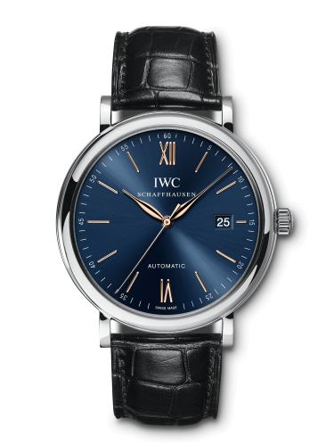 IWC IW3565-23 : Portofino Automatic Stainless Steel / Blue / Alligator
