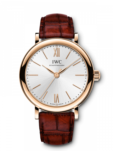 IWC IW3574-01 : Portofino 34 Rose Gold / Silver / Santoni