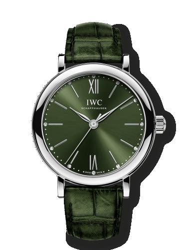 IWC IW3574-05 : Portofino 34 Stainless Steel / Green / Santoni