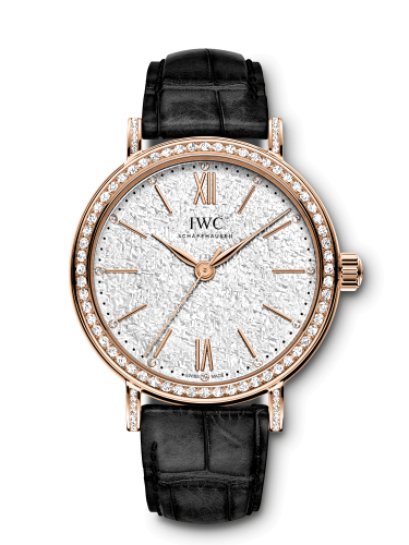 IWC IW3574-06 : Portofino 34 Rose Gold / Diamond / Silver-Embossed / Santoni