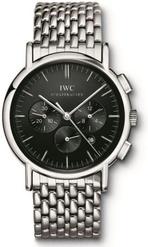 IWC IW3724-06 : Portofino Chronograph MecaQuartz Stainless Steel / Black / Bracelet