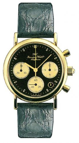 IWC IW3730-07 : Portofino Lady Chronograph MecaQuartz Yellow Gold / Black / Alligator