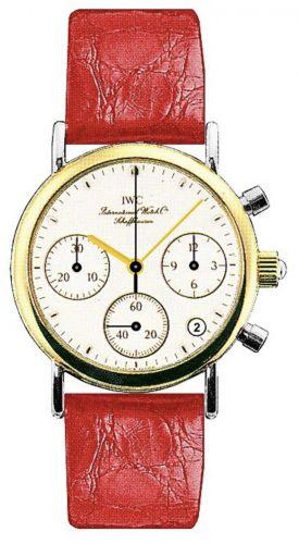 IWC IW3730-12 : Portofino Lady Chronograph MecaQuartz Stainless Steel / Yellow Gold / White / Alligator