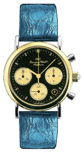 IWC IW3730-15 : Portofino Lady Chronograph MecaQuartz Stainless Steel / Yellow Gold / Black / Alligator