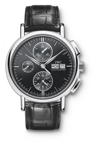 IWC IW3783-03 : Portofino Chronograph Stainless Steel / Black