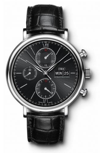 IWC IW3910-02 : Portofino Chronograph Stainless Steel / Black