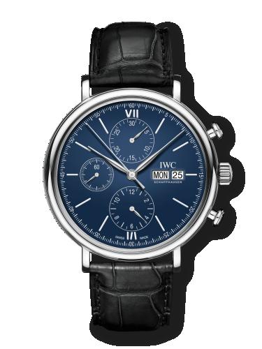 IWC IW3910-23 : Portofino Chronograph 150 Years Stainless Steel / Blue