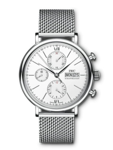 IWC IW3910-28 : Portofino Chronograph Stainless Steel / Silver / Milanese