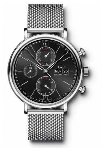 IWC IW3910-33 : Portofino Chronograph Stainless Steel / Black / Milanese