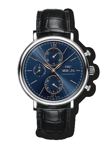 IW3910-36 : IWC Portofino Chronograph Stainless Steel / Blue