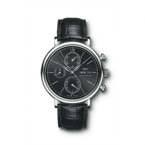 IWC IW3910-08 : Portofino Chronograph Stainless Steel / Black