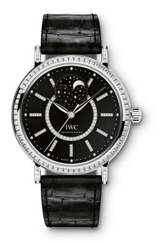 IWC IW4590-04 : Portofino Automatic Moon Phase 37 White Gold / Diamond / Black