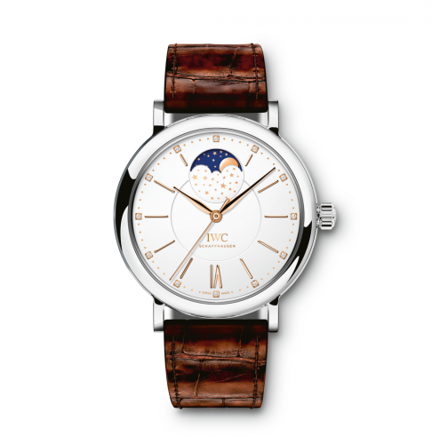 IWC IW4590-11 : Portofino Automatic Moon Phase 37 Stainless Steel / Silver