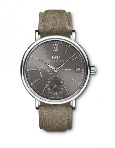 IWC IW5101-15 : Portofino Hand-Wound Eight Days Stainless Steel / Ardoise