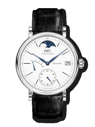 IWC IW5164-06 : Portofino Hand-Wound Eight Days Moonphase 150 Years Stainless Steel / White