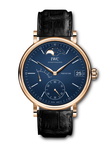IWC IW5164-07 : Portofino Hand-Wound Eight Days Moonphase 150 Years Red Gold / Blue