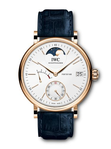 IWC IW5164-09 : Portofino Hand-Wound Eight Days Moonphase Red Gold / Silver