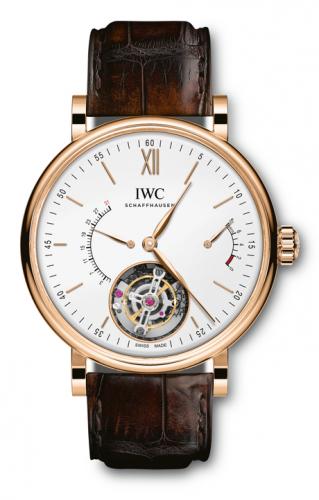 IWC IW5165-01 : Portofino Hand-Wound Tourbillon Rétrograde Red Gold / Silver