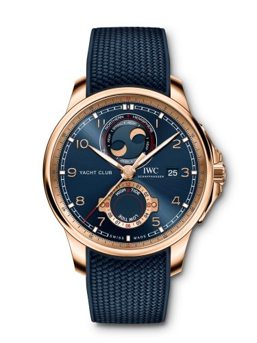 IWC IW3440-01 : Portugieser Yacht Club Moon & Tide Red Gold  / Blue / Rubber
