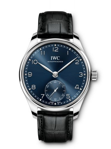 IWC IW3583-05 : Portugieser Automatic 40 Stainless Steel / Blue / Alligator