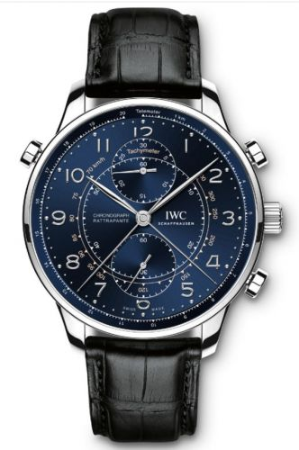 IWC IW3712-23 : Portuguese Chrono-Rattrapante Stainless Steel / Blue / Boutique Milano Laureus