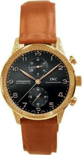 IWC IW3714-25 : Portugieser Chrono-Automatic Rose Gold / Black / Diamond