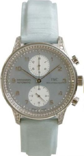 IWC IW3714-27 : Portugieser Chrono-Automatic White Gold / Blue MOP / Diamond