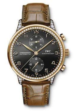 IWC IW3714-42 : Portuguese Chrono-Automatic Rose Gold / Black / Diamond
