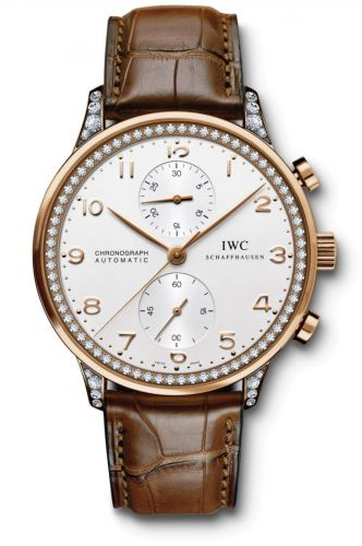IWC IW3714-85 : Portugieser Chrono-Automatic Red Gold / Silver / Diamond