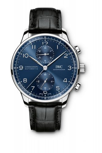 IWC IW3714-91 : Portuguese Chrono-Automatic Stainless Steel / Blue
