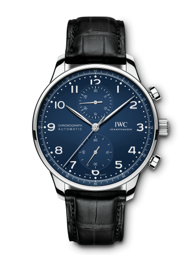 """IWC IW3716-01 : Portugieser Chronograph """"150 Years"""" Stainless Steel / Blue"""