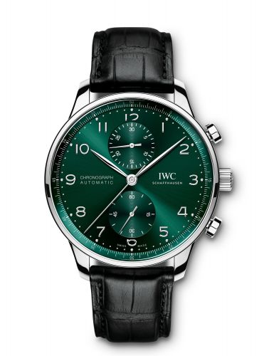 IWC IW3716-15 : Portugieser Chronograph Stainless Steel / Green