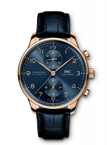 IWC IW3716-14 : Portugieser Chronograph Red Gold / Blue / Boutique Edition
