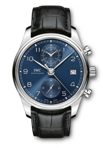 IWC IW3903-03 : Portugieser Chronograph Classic Stainless Steel / Blue