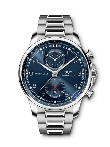 IWC IW390701 : Portugieser Yacht Club Chronograph Stainless Steel / Blue / Bracelet