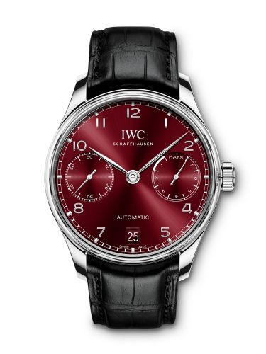 IWC IW5007-14 : Portugieser Automatic 5007 Stainless Steel / Burgundy