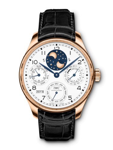 """IWC IW5034-05 : Portugieser Perpetual Calendar Double Moon """"150 Years"""" Red Gold / White"""