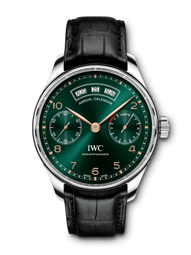 IWC IW5035-10 : Portugieser Annual Calendar Stainless Steel / Green / Middle East
