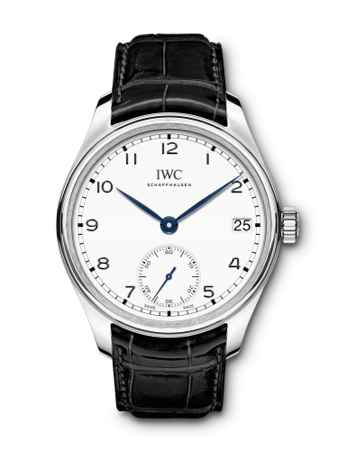 "IWC IW5102-12 : Portugieser Hand-Wound Eight Days ""150 Years"" Stainless Steel / White"