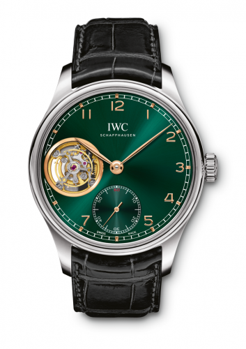 IWC IW5463-07 : Portugieser Tourbillon Hand-Wound White Gold / Green /  Middle East