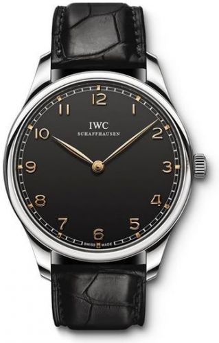 IWC IW5703-02 : Portugieser Hand-Wound Pure Classic Stainless Steel / Black