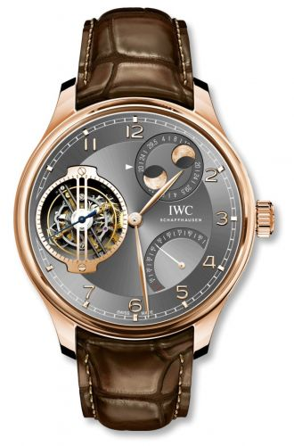 IWC IW5901-01 : Portugieser Constant-Force Tourbillon Double Moon Red Gold / Ardoise