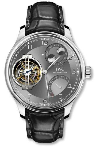 IWC IW5901-02 : Portugieser Constant-Force Tourbillon Double Moon Platinum / Ardoise